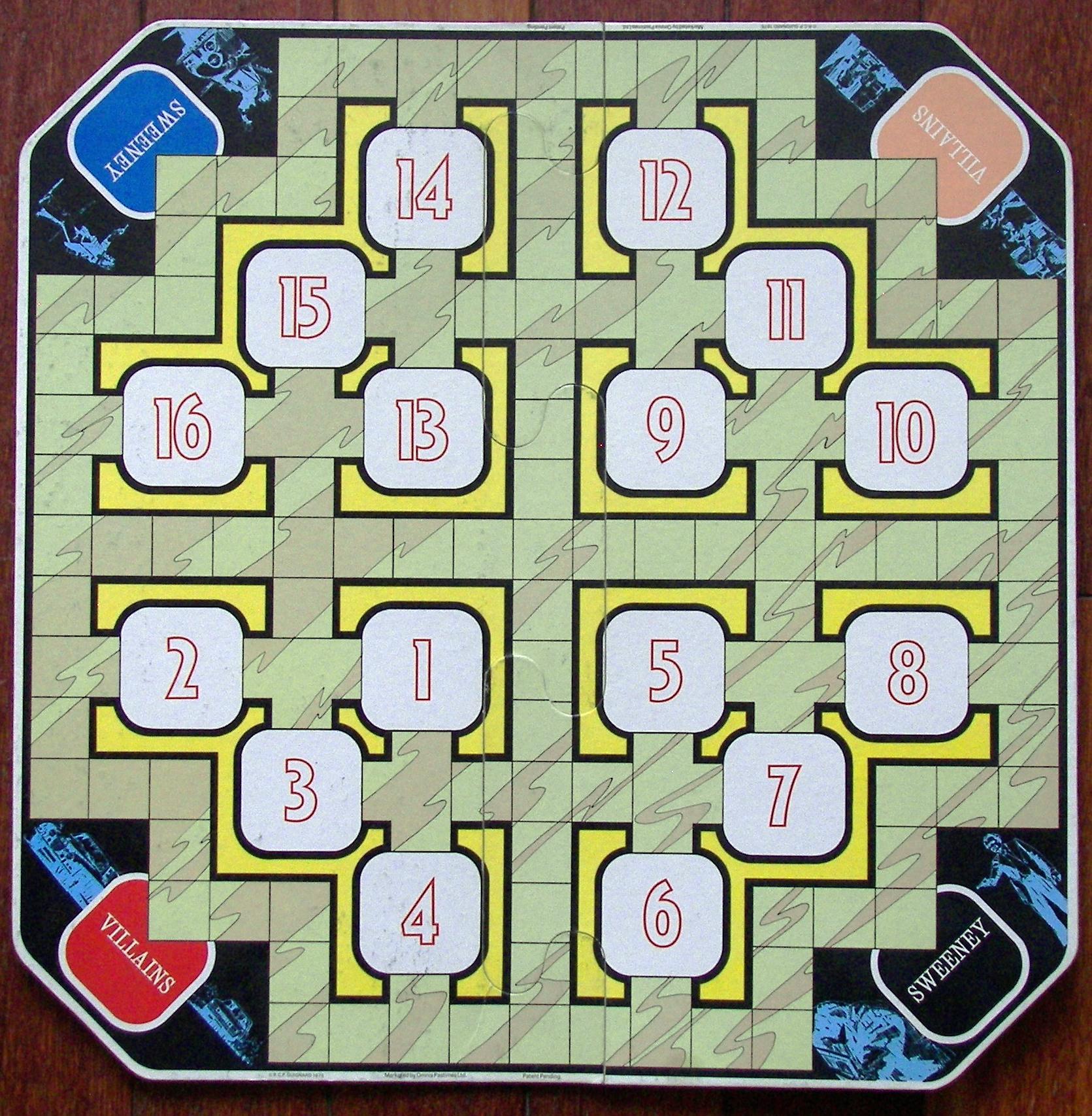 Original Vintage 1975 The Sweeney Board Game Rechange Villain Figure Omnia